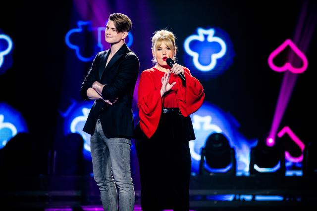 Hello Again! Die Pop-Schlager-ShowVincent Gross und Maite Kelly2019Copyright: SRF/Mirco Rederlechner